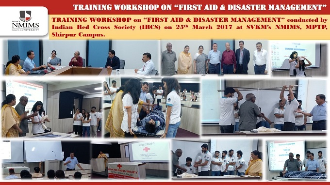 TRAINING WORKSHOP ON FIRST AID & DISASTER MANAGEMENT CONDUCTED ON 25TH MARCH 2017