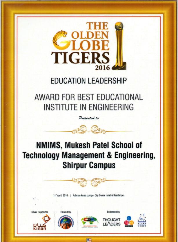 Golden Globe Awards 2016 to MPSTME - Shirpur